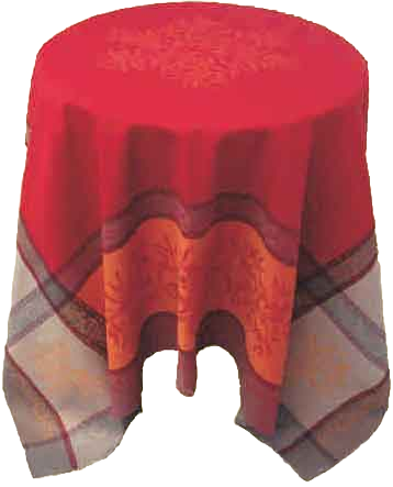 Olives Red Jacquard Tablecloth