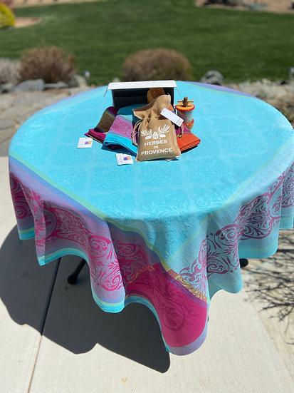Prestige Jacquard Tablecloth: Turquoise