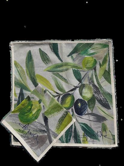 Olivagathe Olive Cotton Napkin