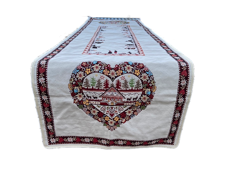 Coeur d'Hiver  Holiday Table Runner