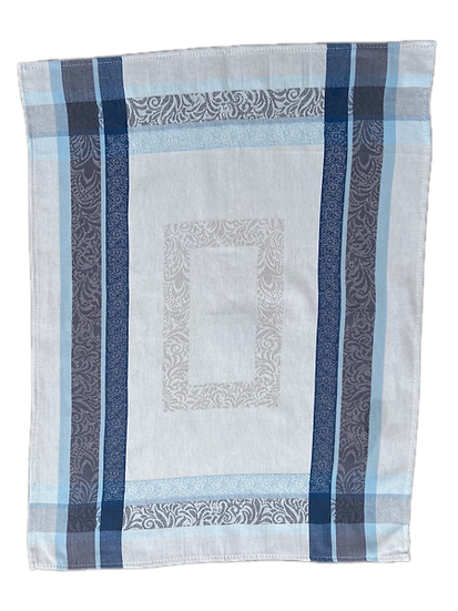 Bargeme Dish Towels: Blue with Grey
