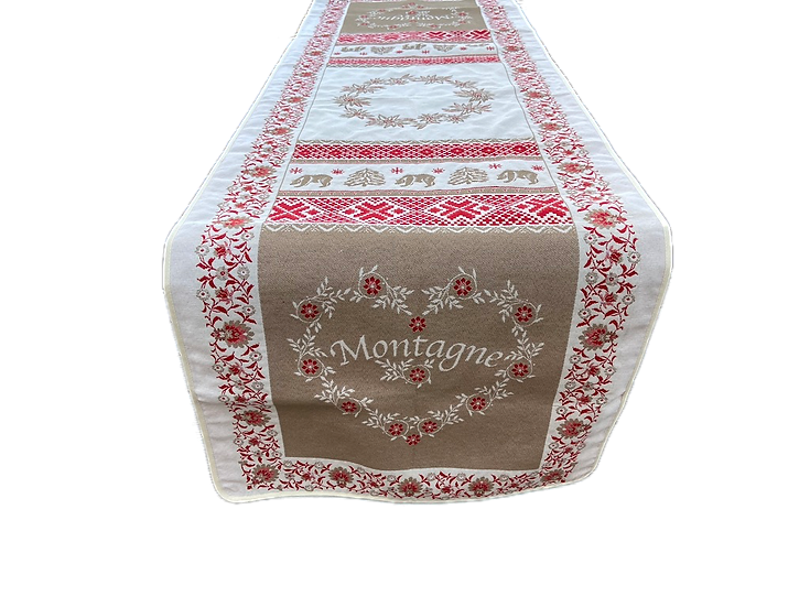 Ours d'Hiver  Holiday Table Runner