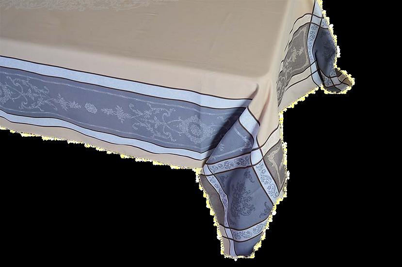 Montmireil Taupe Jacquard Tablecloth