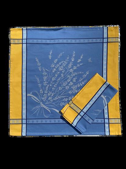 Grignan Blue Yellow Jacquard Napkins