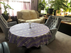Grasse Coated Cotton Tablecloths