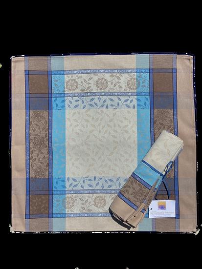 Florentine Blue Jacquard Napkins