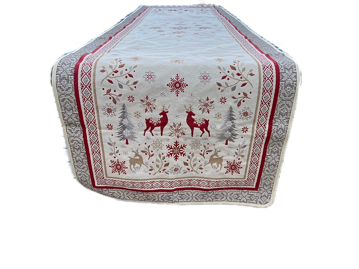 Vallee Silver Holiday Table Runner