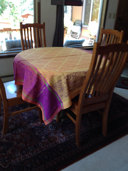 Prestige Orange Jacquard Tablecloth