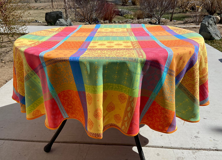 Valescure Mult-Colored Jacquard Tablecloth