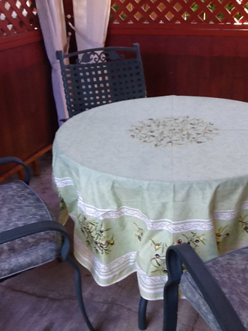 Olives Coated Cotton Tablecloths