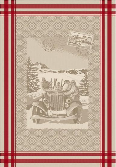 Les Alpes Linen Jacquard Dish Towel