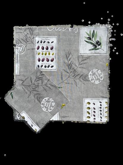 Mediterranean Grey Cotton Napkins