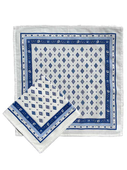 Mirabeau Blue Cotton Napkins