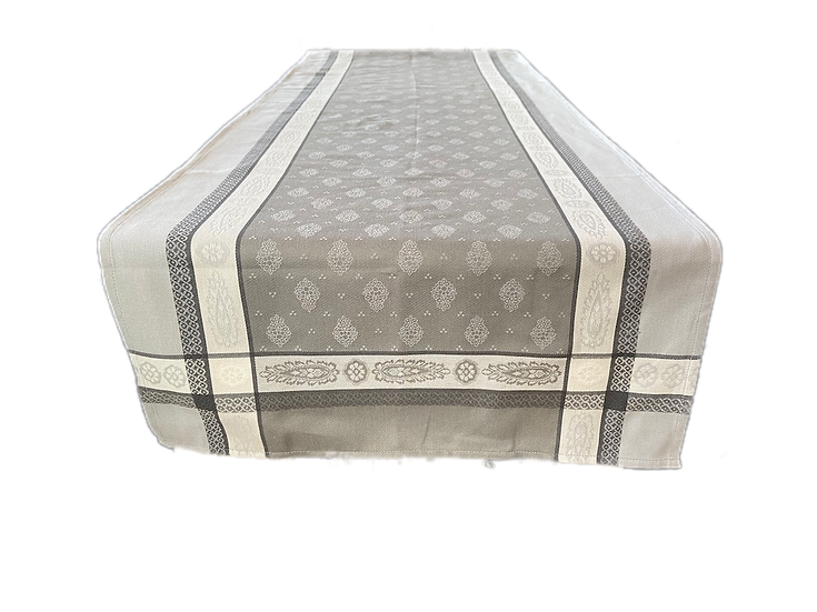 Vaucluse Jacquard Table Runner: Grey