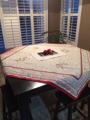 Auriol Red Reversible Holiday Table Topper 57x57