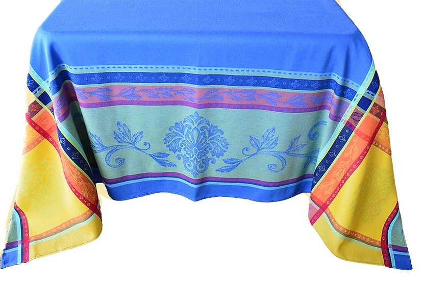 Seguret Jacquard Tablecloth: Blue