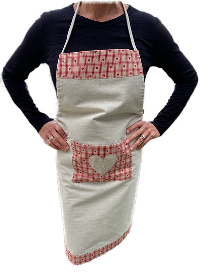 Embroidered Hearts Aprons