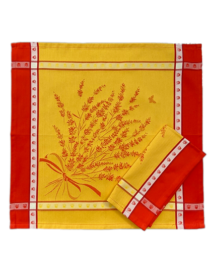 Grignan Yellow Orange Jacquard Napkin