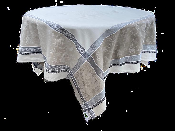 Vars Holiday Jacquard Tablecloth: Silver