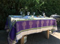 Lavandine Jacquard Tablecloth