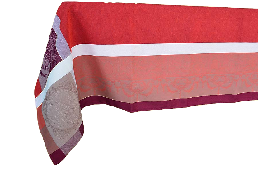 Baroque Red Jacquard Tablecloth
