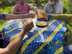Cigale Blue Cotton Tablecloths