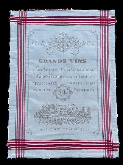 Les Grands Vins Dish Towels: Linen