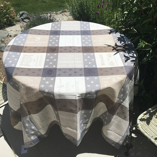 Sommelier Jacquard Tablecloth: Taupe