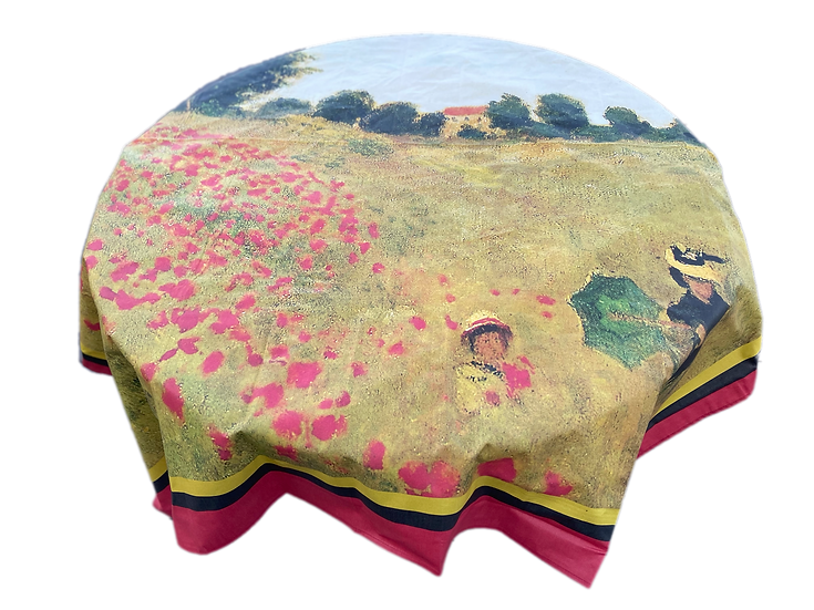 Les Coquelicots Coated Cotton Tablecloth