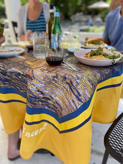 Cafe le Soir Coated Cotton Tablecloth