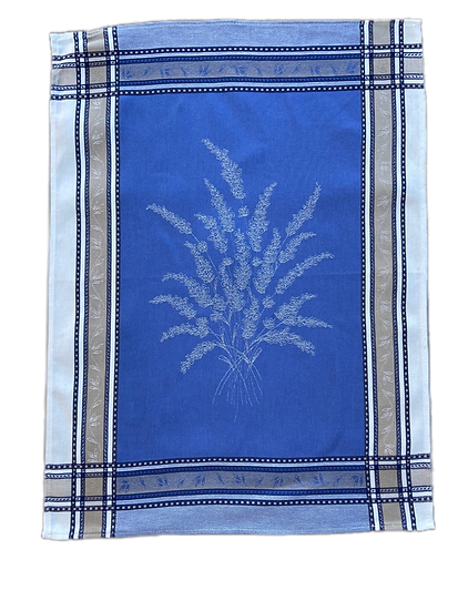 Senanque Blue with White Dish Towels