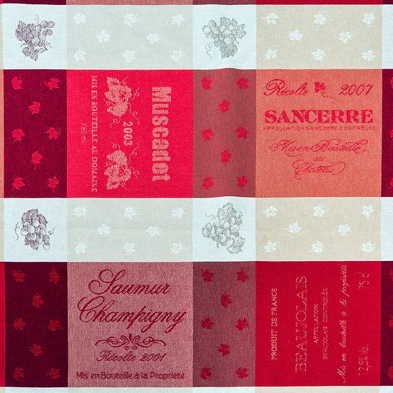 Sommelier Red Jacquard Tablecloth