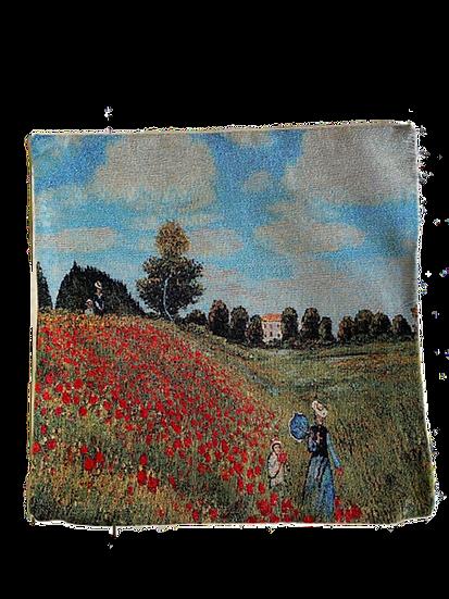 Poppies Monet Cushion Cover