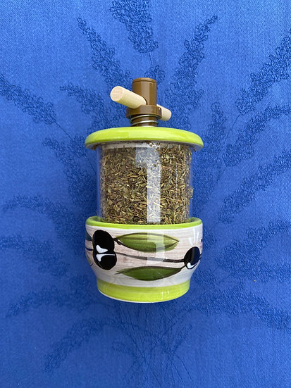 Provence Green Olive Grinders with Herbes de Provence