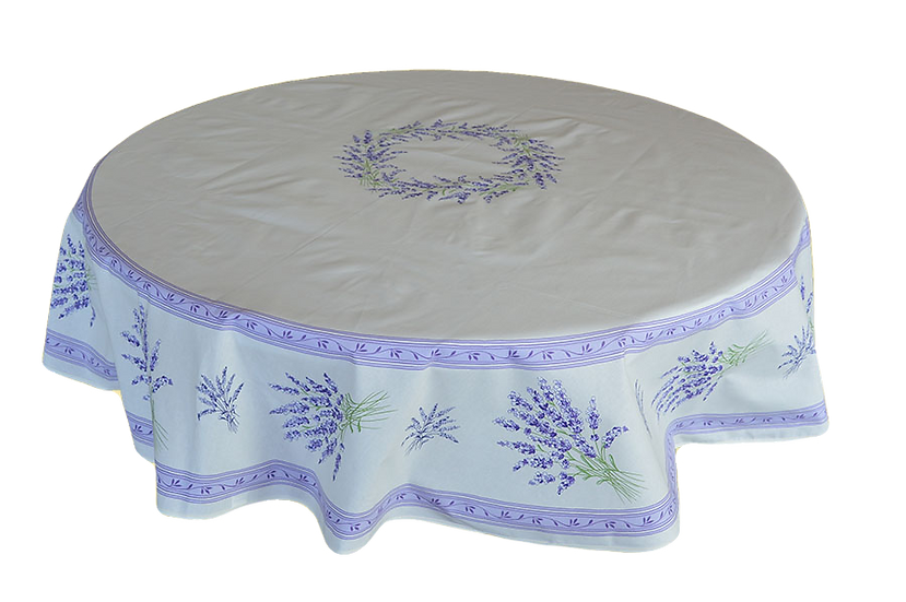 Valensole White Coated Cotton Tablecloths