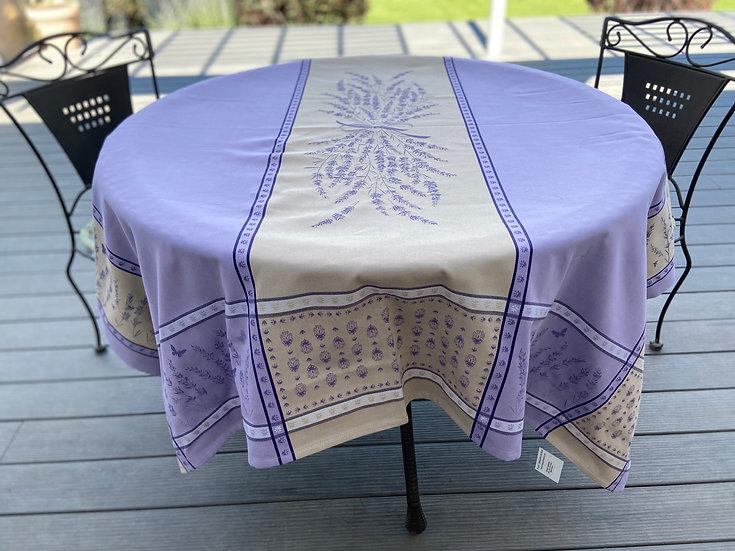 Grignan Jacquard Tablecloth: Mauve