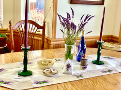 Lavender Embroidered Table Runner