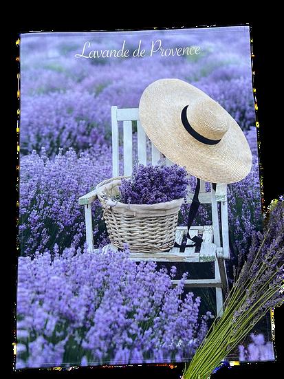 Lavender Chapeau Dish Towel