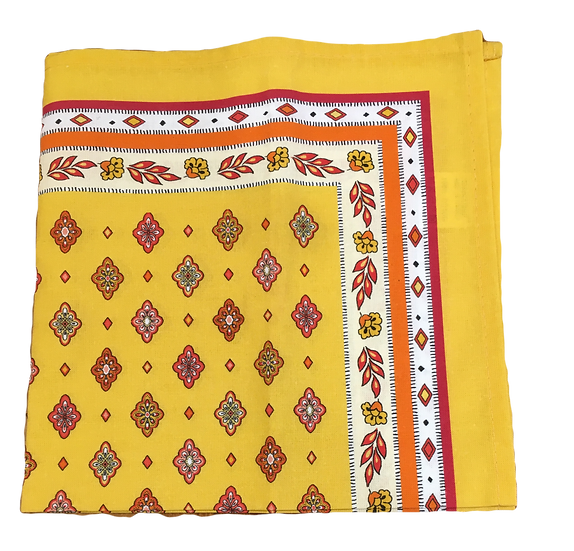 Mirabeau Yellow with Red Napkins
