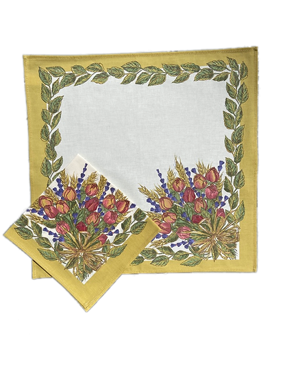 Roses and Lavender Cotton Napkin