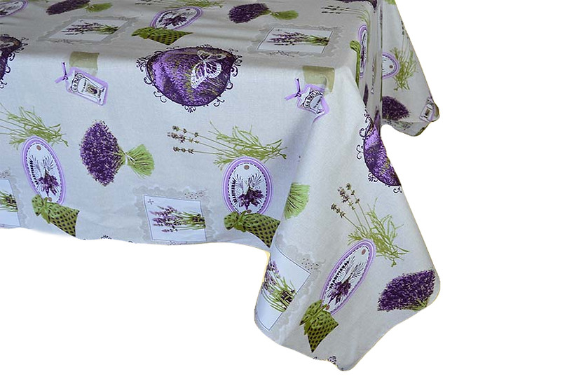 Lavande et Papillon Coated Cotton Tablecloths