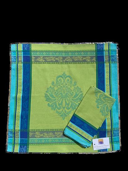 Seguret Jacquard Napkins: Turquoise