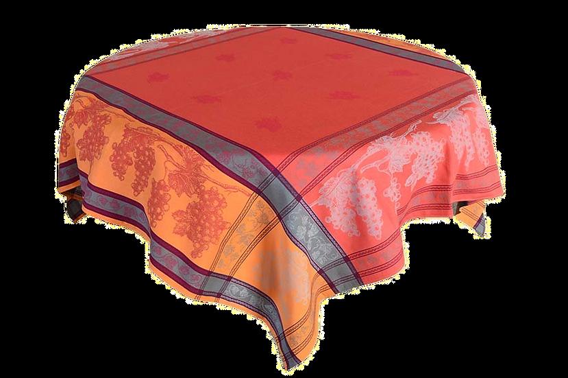 Tavel Terra Cotta Jacquard Tablecloth