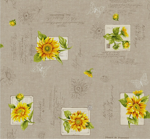 Sunflowers Coated Cotton Tablecloths