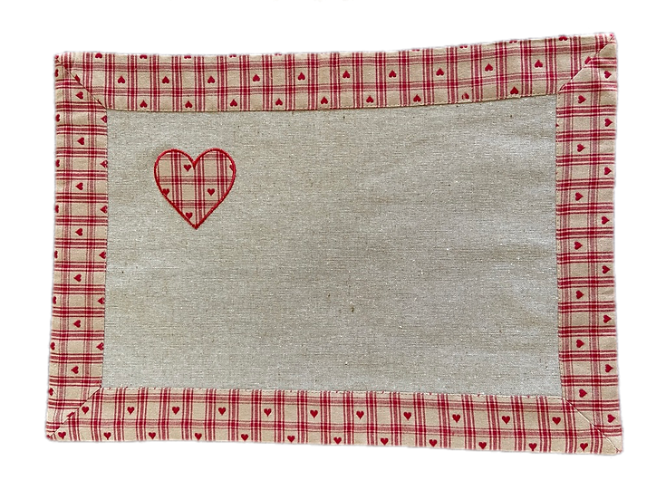 Red Hearts Placemats
