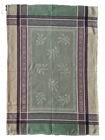 Tuscan Olive Dish Towels: Green