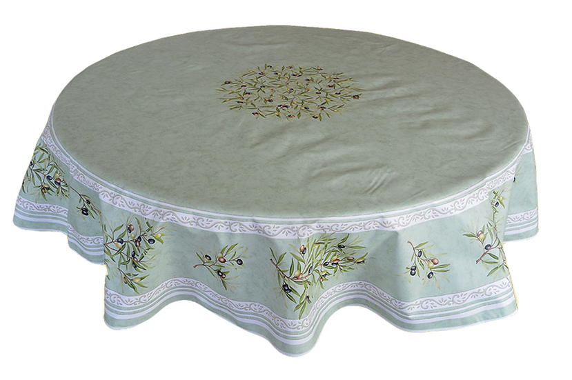 Olives Cotton Tablecloths: Green