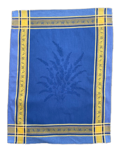 Senanque Dish Towels: Blue with Yellow