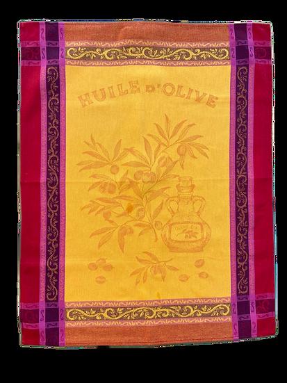 Olives Dish Towels: Orange