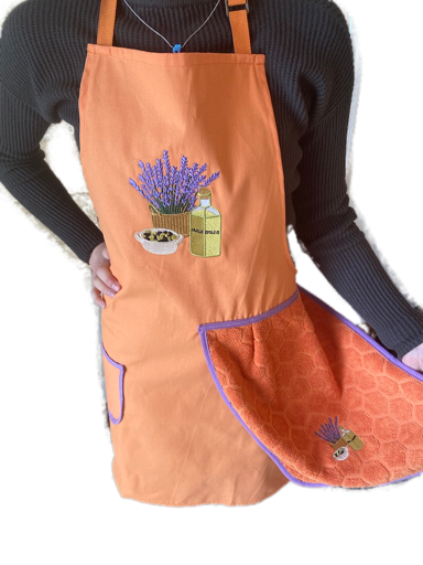 Aprons: Lavender with Cloth